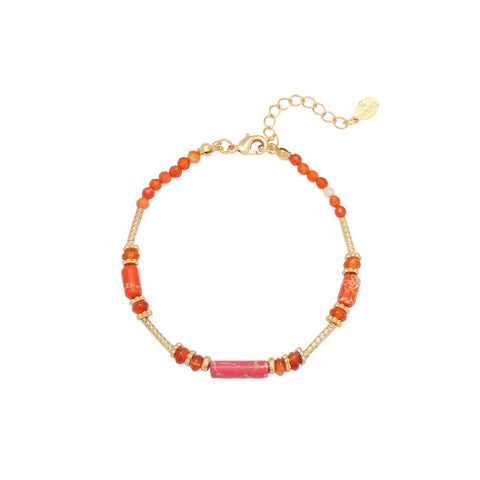 ARMBAND CANDY ROOD & GOUD