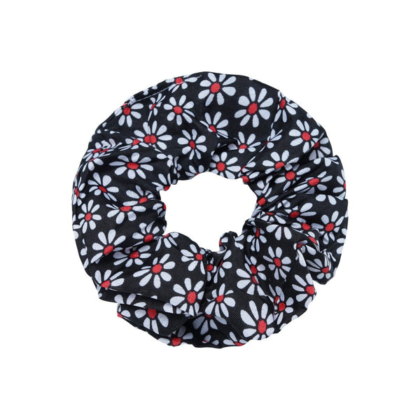 SCRUNCHIE FLORAL | BLACK