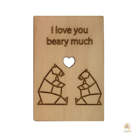 LAY3RD | WENSKAART I LOVE YOU BEARY MUCH