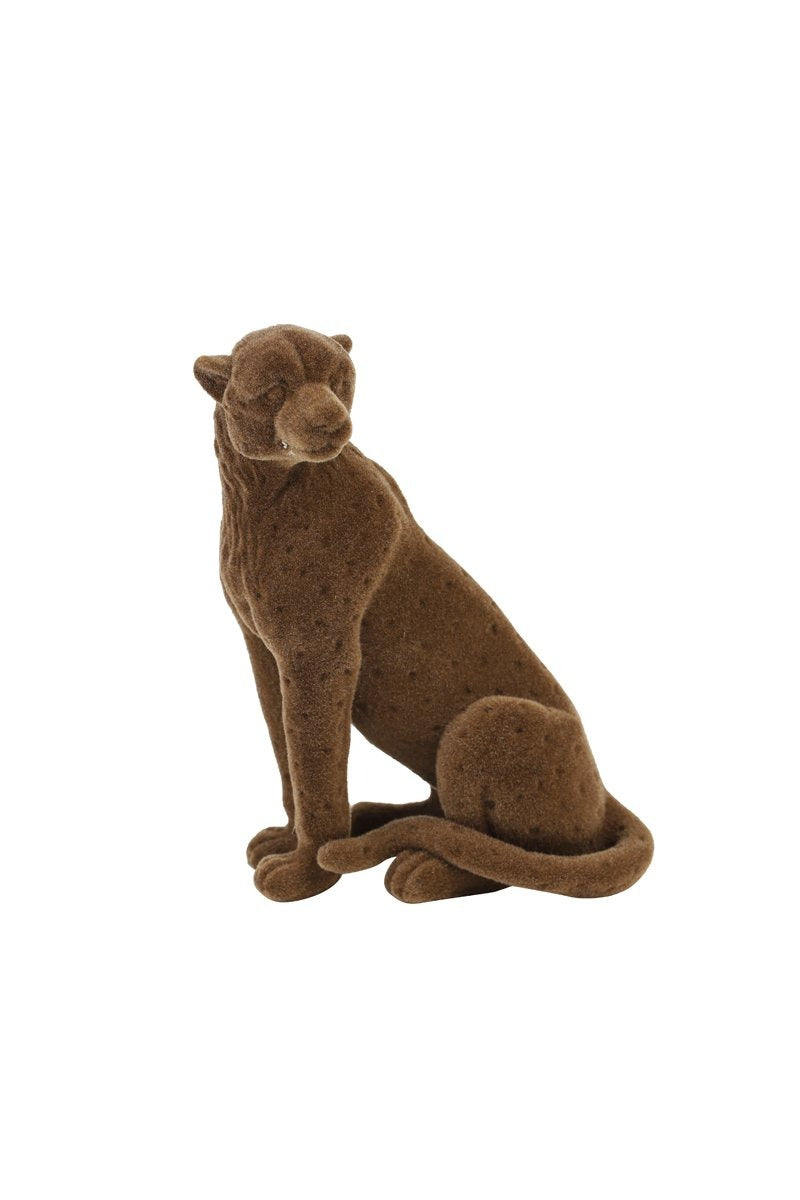 L&L | STATUE CHEETAH VELVET - BROWN