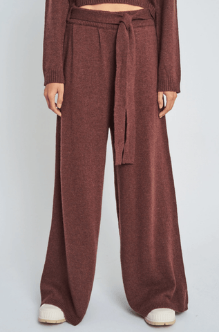 NATIVE YOUTH | MAKENNA KNITTED TROUSERS - BROWN