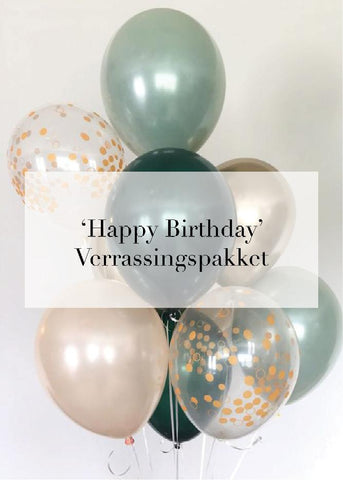 'Happy Birthday' VERRASSINGSPAKKET twv €40,-