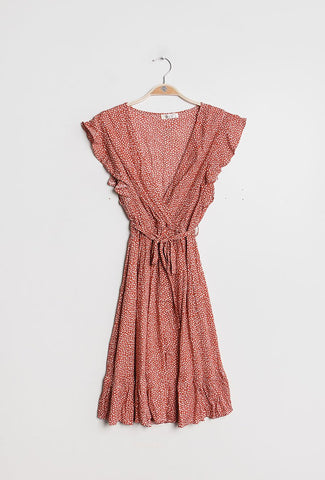 ROSA DRESS - LIGHT RED