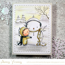 Load image into Gallery viewer, 'Snowman Hug' Christmas Digital Stamp (High Res JPG)