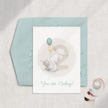 Load image into Gallery viewer, Birthday Number (1-6) Single Greeting Card