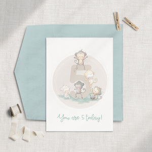 Birthday Number (1-6) Single Greeting Card