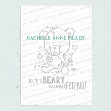 Load image into Gallery viewer, Beary Sweet Friend Digital Stamp (High Res JPG)