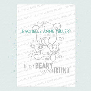 Beary Sweet Friend Digital Stamp (High Res JPG)