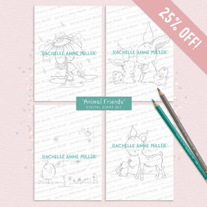'Animal Friends' Digital Stamp Set