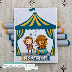 'Dream Big Circus' Digital Stamp