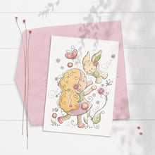 Load image into Gallery viewer, Bunny Girl 5x7 Greeting Card