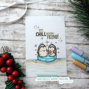 'Penguin Chill' Digital Stamp