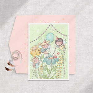 Fairy Party Digital Stamp (High Res JPG)