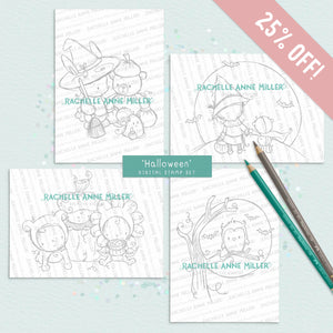 'Halloween' Digital Stamp Set (High Res JPG) BUY 3 GET 1 FREE