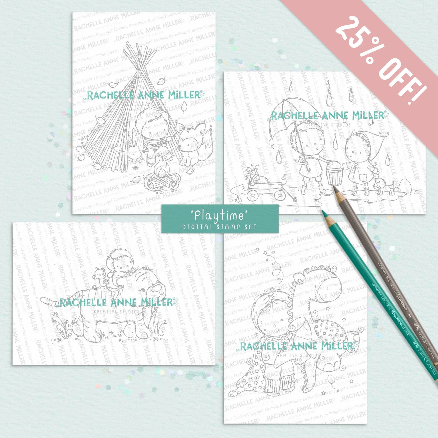 'Playtime' Digital Stamp Set