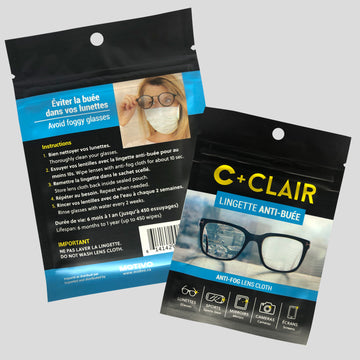 Anti-Fog Wipes for Glasses