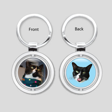The Oreo Cat - Spinner Keychain (Onyx)