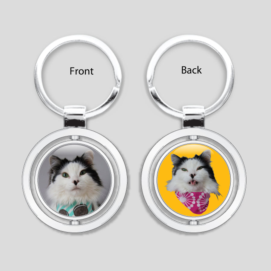 The Oreo Cat - Spinner Keychain (Oreo)