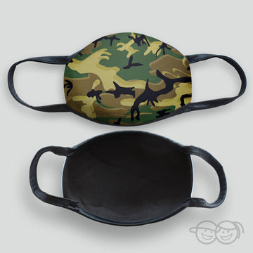Camouflage - Green Kid's Face Mask (Scuba-3)