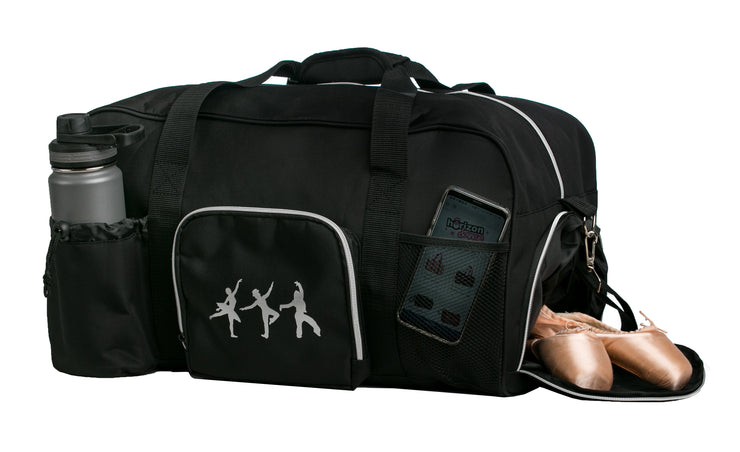 Horizon Dance 2603 Charly Large Black Dance Duffel Bag for Adults