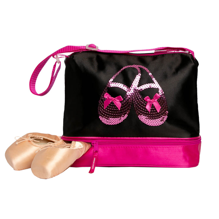 Horizon Dance 3414 Satin & Sequins Ballet Shoes Tote Bag for Little Girls
