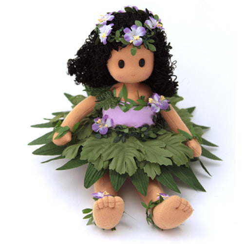 Hawaiian Pualani (Purple Lei) Collectible Musical Doll
