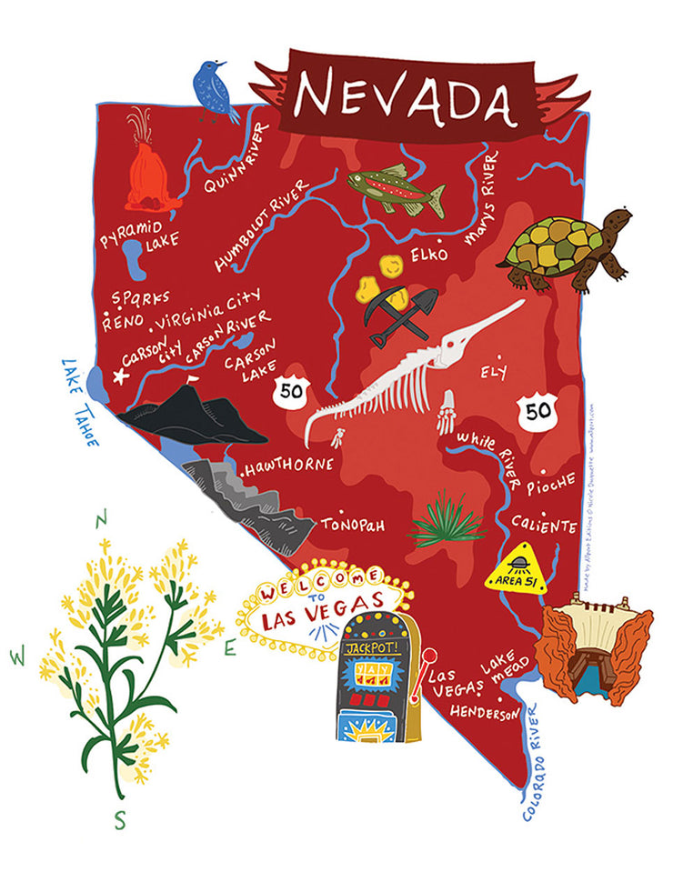 Nevada Kitchen Tea Towel - 100% Cotton Kitchen Dish Towel