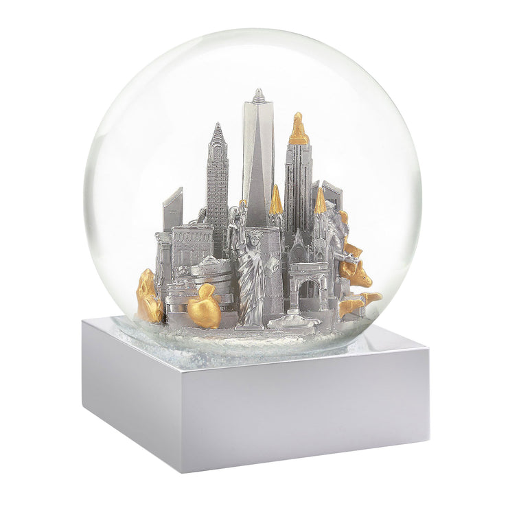New York City Silver-Gold Snow Globe by CoolSnowGlobes