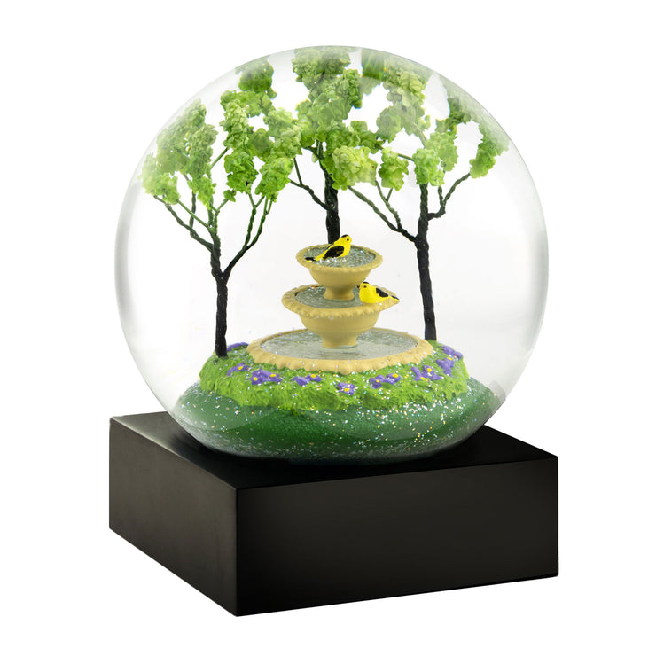 Goldfinch Fountain Cool Snow Globe by CoolSnowGlobes