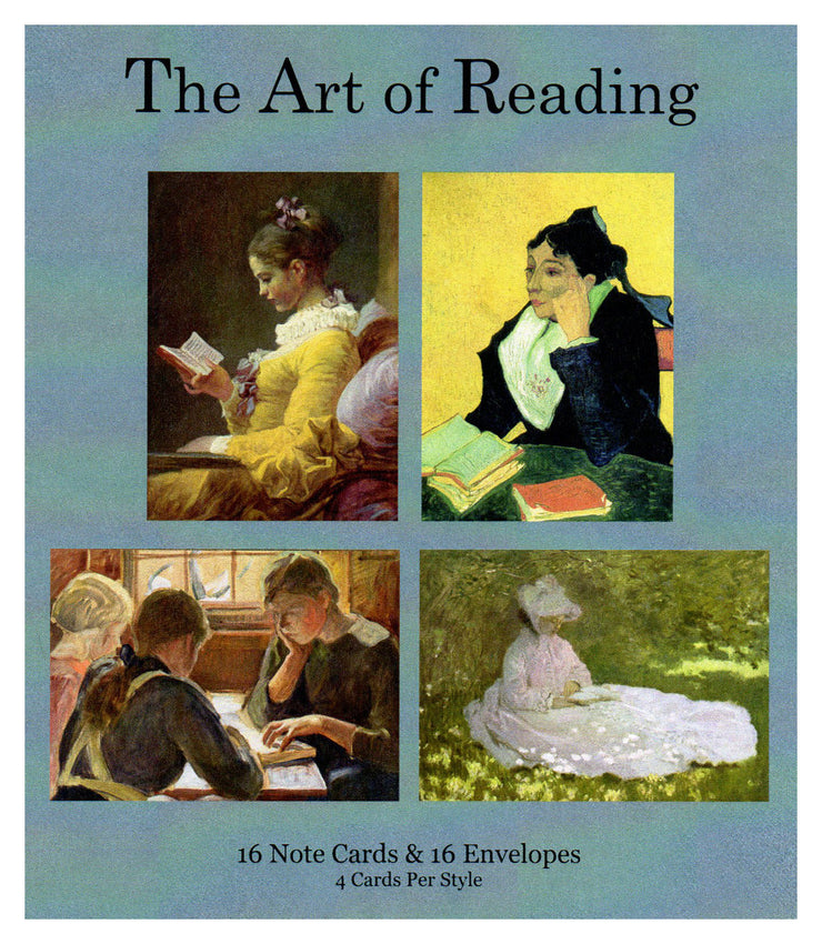 Art of Reading Note Cards - Boxed Set of 16 Note Cards with Envelopes