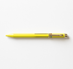 Stylo 4 couleurs Basic Utility | Jaune - 23heures59éditions