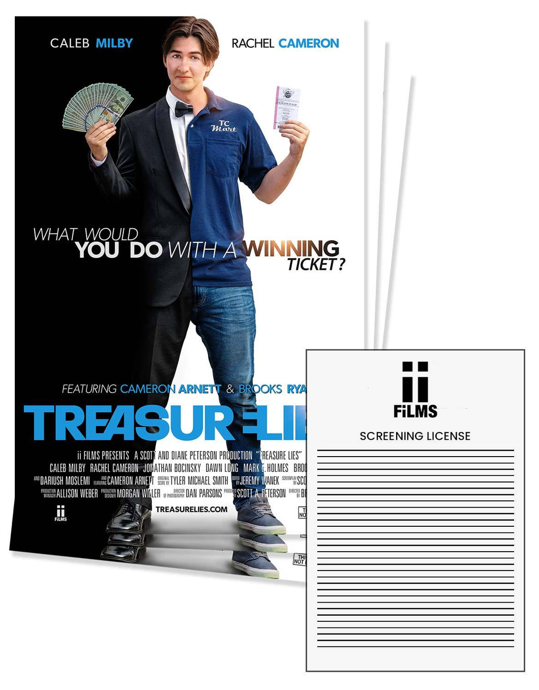 treasure lies movie license