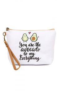 """Avocado"" Large Makeup Pouch"