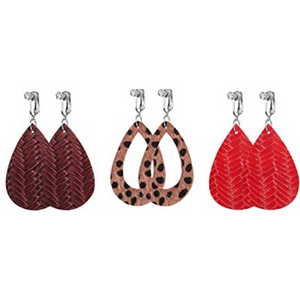 Trendy Clip On Earrings- Wild Side  - 3 Pairs