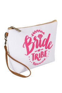 """Bride Tribe"" Large Makeup Pouch"