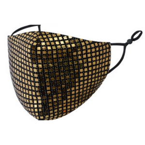 Trendy Sequins Mask- Gold