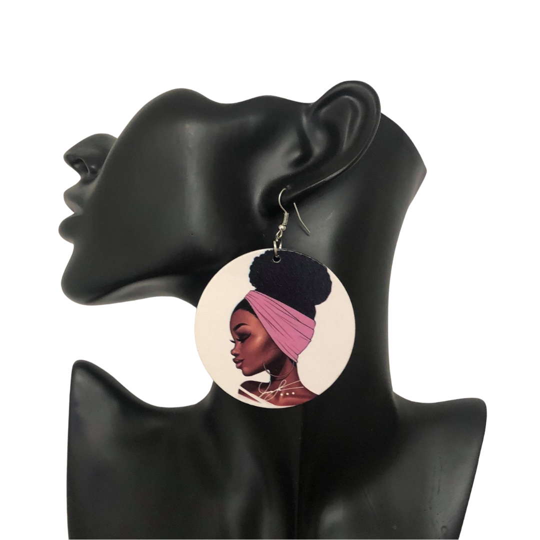 Headwrap Puff Chic Earrings