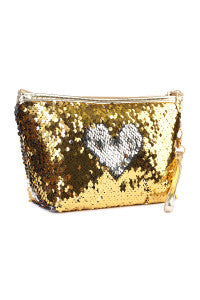 """Heart of Gold"" Sequins Pouch"