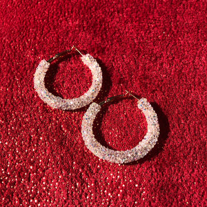 Holiday Glitter Hoops -Small