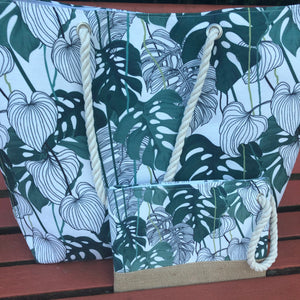 """Tropical Vibes"" Large Tote Bag Set"