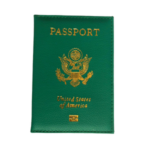 Fashion Passport Holder- Green