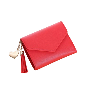 """Tassle Me Not"" Mini Wallet- Red"