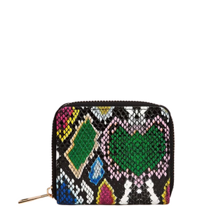 """Fashion"" Zippered Mini Wallet- Multi Print"