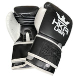 HKA USA Boxing Gloves - BLACK & WHITE
