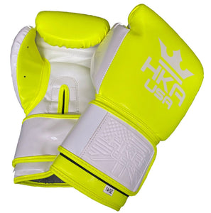 HKA USA Boxing Gloves - FLASH YELLOW