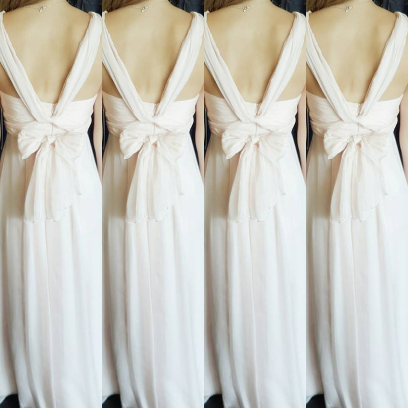 Chiffon Multiway Gown - White