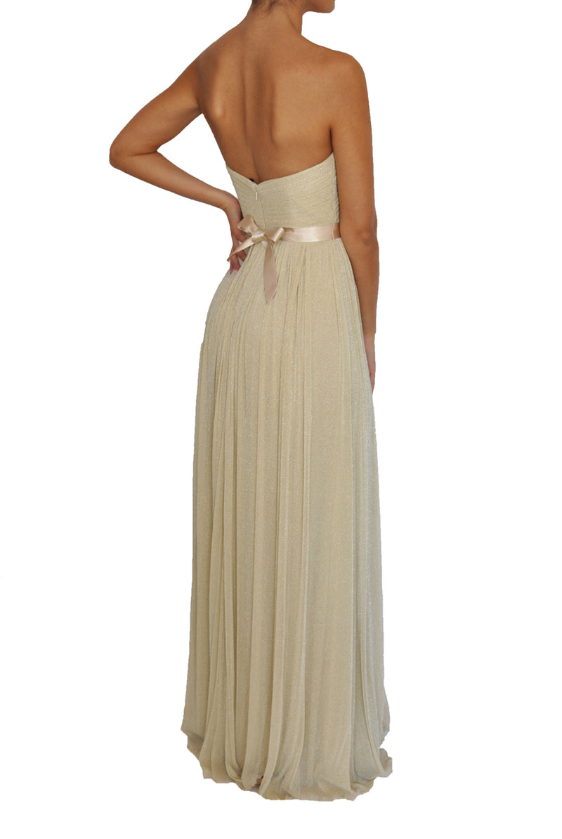 Tulle Multiway Gown- Cream Gold