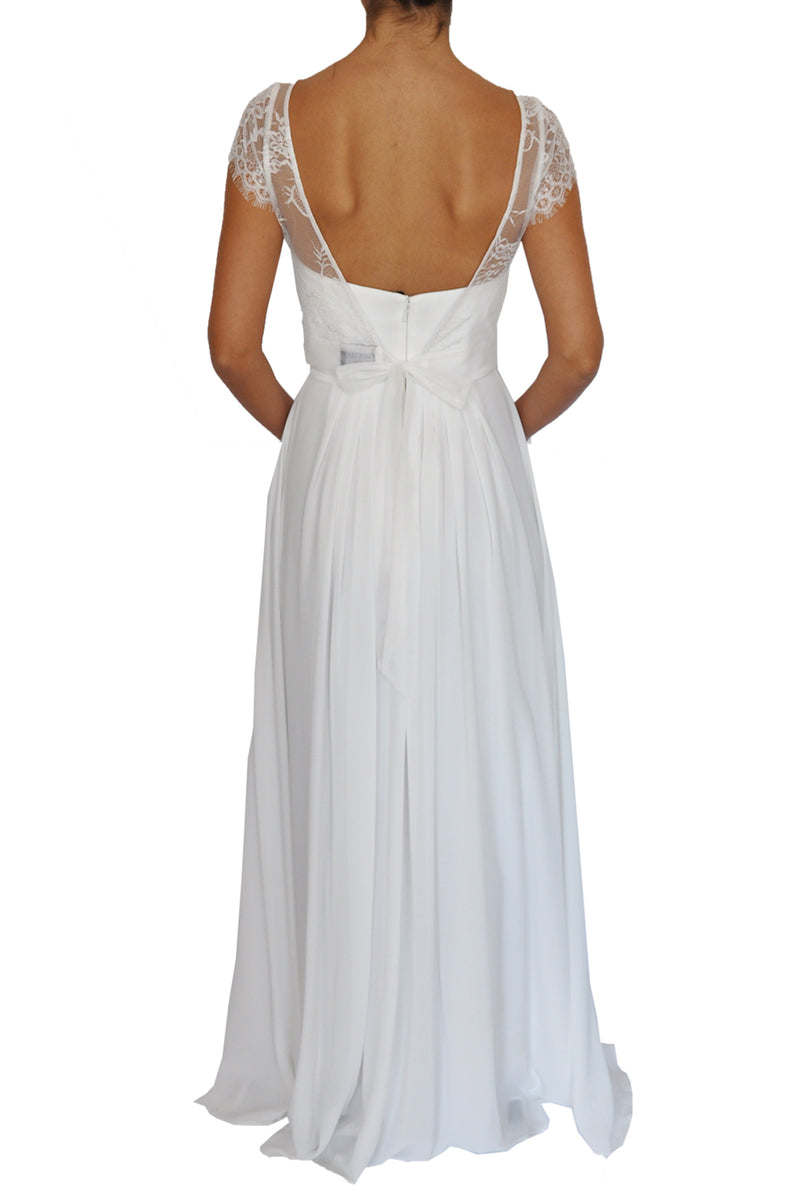 Lace Cap Sleeve Topper - White