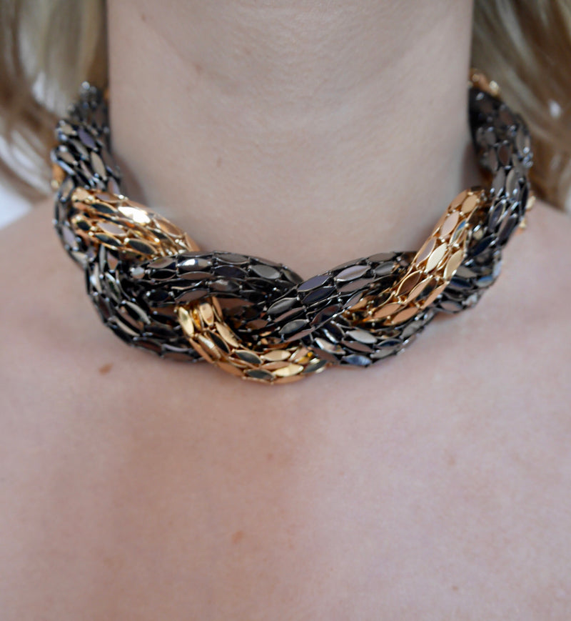 Nerine - Mixed Metal and Gold Necklace