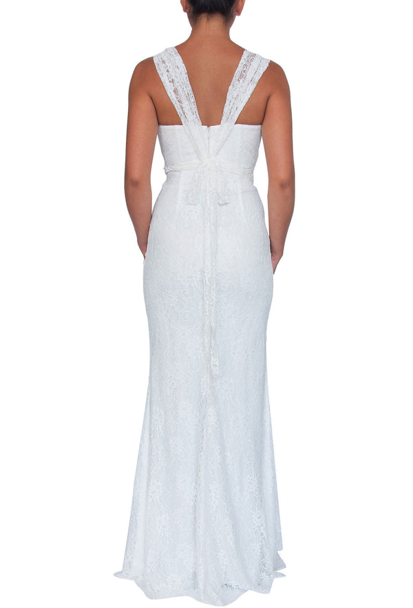 Lace Multiway Gown - White